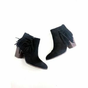 Black Suede Ankle Boot, Size 6.5